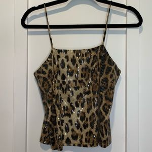 Forever 21 Cheetah Cropped Cami Small